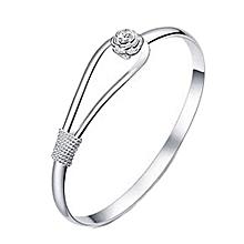 Women 925 Sterling Silver Bracelet Cuff Bangle Hand Chain Fashion Jewelry