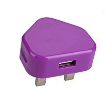 USB AC Charger Wall UK Plug 3 Pin Travel Home Power Adapter For Mobile Phone