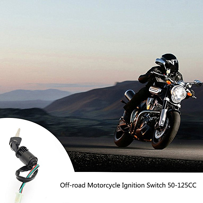 4Wire Ignition Key Barrel Switch 50cc 110cc 125cc 250cc PIT Quad Dirt Bike  ATV Black