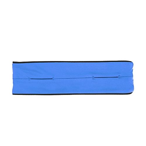 Outdoor sports running Waist bag Anti-theft mobile phone Holder Pocket bag  elastic Unisex Gym Jogging cycling Invisible belt Bag(Blue Color)