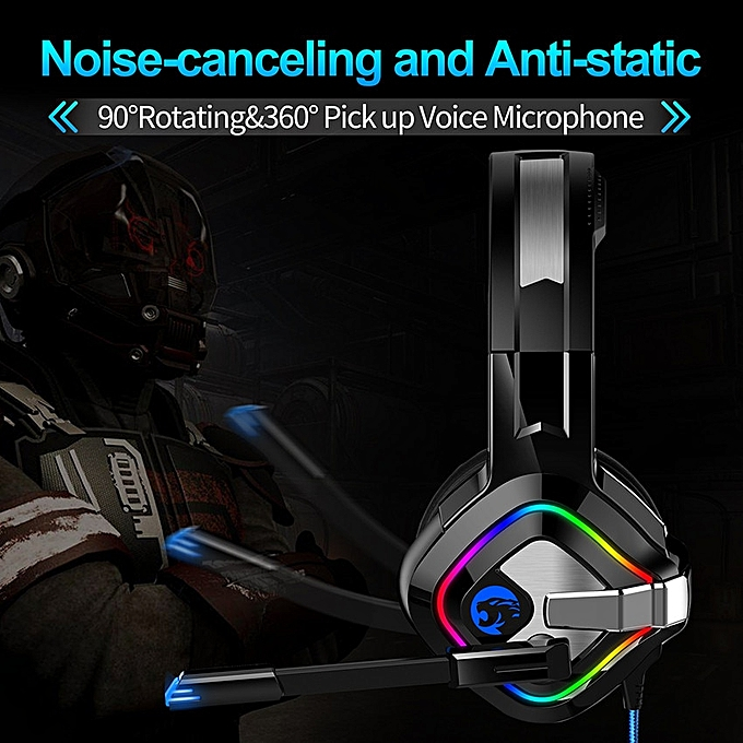 K1 casque PS4 Gaming Headphones Stereo Headset with Mic RGB LED Lights for  Xbox One PC Notebook Laptop Gamer (No Retail Box)