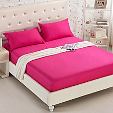 Bed Li Pure Cotton Anti - Slip Bed Cover Mattress Cover Bed Palm Mat rose red