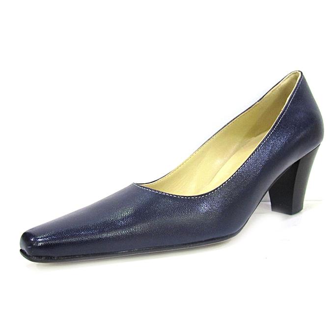 ae6a849de6c94 Melia Navy Blue Official Leather Ladies Mid Heel Shoes @ Best Price ...