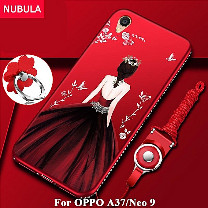 on sale 711d6 c4573 Back Cover For OPPO A37 / for Oppo Neo 9 Pretty Diamond Ultra-thin TPU  Protection Phone Case Shockproof Case With Phone Rope And Metal Ring 157300  ...
