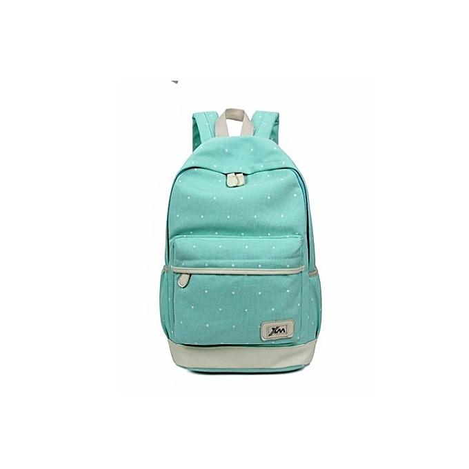 a5110573ebe4 Generic Green unisex leisure school backpack 3 pcs in 1 bag set ...