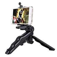 PULUZ Grip Folding Tripod Mount with Adapter Screws for Gopro SJCAM Xiaomi Yi Action Camera