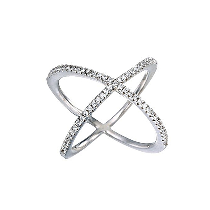 758bcdbf1 ... silver sparkling cross over ring 93294 b4800; low cost hot sale simple  modern fashion pandora rings cross jewelry crystal stone ring criss cross