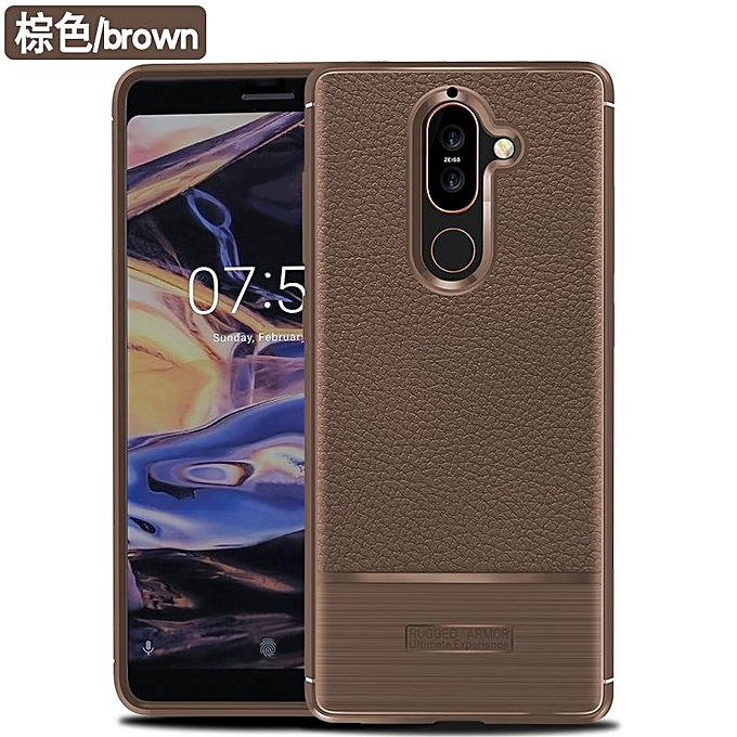 ... Soft Case For Nokia 7 Plus Luxury Litchi Pattern Soft Silicone Case Cover For Nokia 7 ...