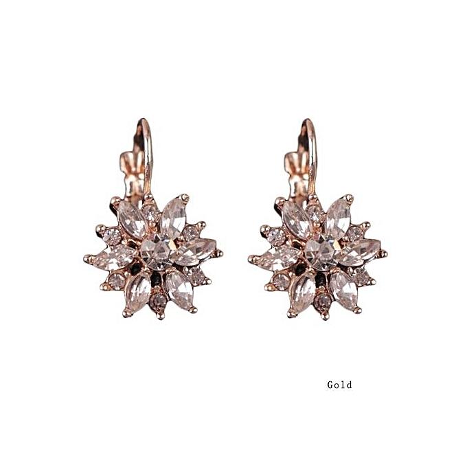 Alloy Earrings Korean Snowflake Crystal Fashion Hypoallergenic Earring Explosion