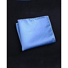 Fashion Men's Suit Pocket Square,Blue  Bottom Star Pattern