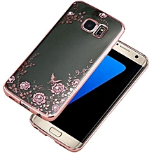 Crystal Rubber Back Plating TPU Soft Case Cover For Samsung Galaxy S7 Edge PK AI