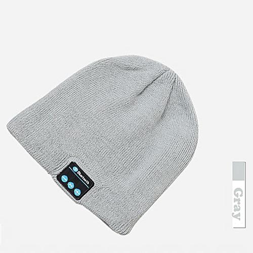 4d741584f58 Generic Stereo Bluetooth 4.1 Wireless Smart Beanie Headset Musical Knit  Headphone Speaker Hat Speakerphone Cap