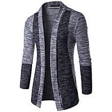 Men's Hot Sale New Men's Fashion Cardigan Sweatshirts Casual Slim Fit Cardigan Hoodies Cotton Stitching Jackets-gray