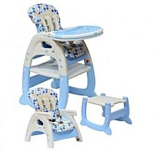 Convertible baby high chair/Feeding chair - Blue/orange