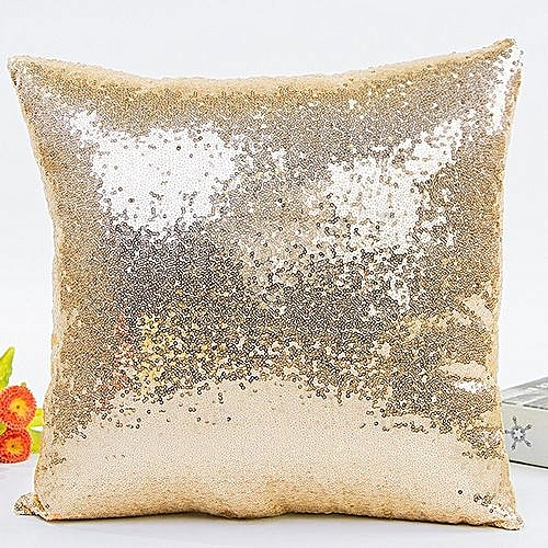 Generic Solid Color Glitter Sequins Throw Pillow Case Cafe Home Decor Cushion Covers