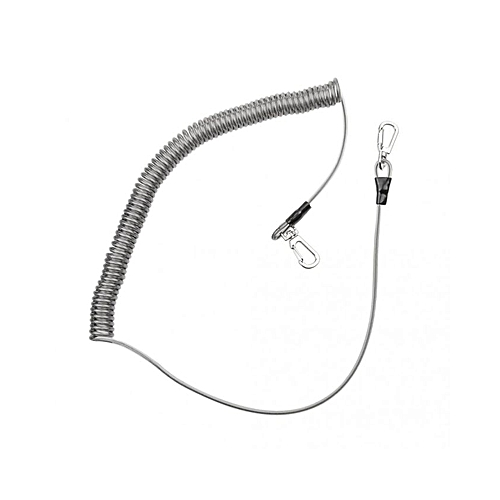 magideal 3 5m stainless steel wire coiled lanyard tether with clip keychain