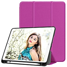 Newest IPad 9.7 Inch 2018 Case With Pencil Holder - Lightweight Soft TPU Back Cover And Trifold Stand With Auto Sleep/Wake CHD-Z