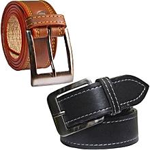 Men's Belt - Black & Brown