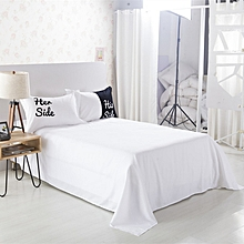 Bed Sheet Bedding Bedroom Black White Silk