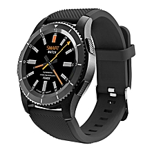 Bluetooth 4.0 SIM Card Call Message Reminder Heart Rate Monitor Smartwatch No.1 G8 MTK2502 ForAndroid/IOS -Black
