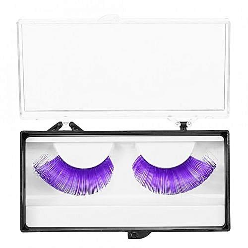 686189e1547 UNIVERSAL Halloween Purple Stage 3D False Eyelashes Dense Eye Lashes  Extension Makeup Tool