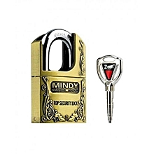 Zinc/Alloy Padlock 50mm- Goldish Brown