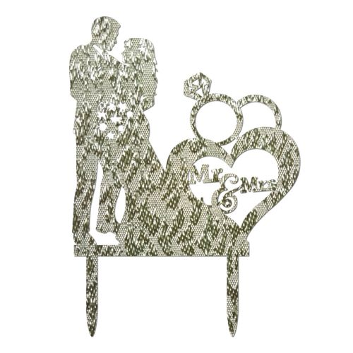 Astounding Fohting Wedding Cake Topper Insert Card Love Groom And Bride Acrylic Cake Decoration Sl Silver Gamerscity Chair Design For Home Gamerscityorg