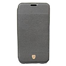 L70 - Crystal Dotted Flip Cover - Black