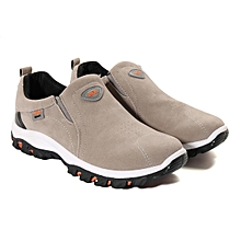 Men's Sports Shoes Outdoor Breathable Casual Sneakers Running Walking Shoes Gray-EU