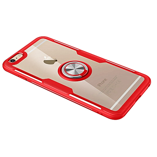 san francisco 26ed9 49f0d iPhone 6s Case,Ultra-Slim Clear Shock Absorbing Case with Ring Holder Stand  Compatible Magnetic Car Mount Cover for Apple iPhone 6s/iPhone 6 4.7