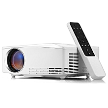 C80 LCD Home Theater Projector 1500 Lumens Support 1080P HDMI VGA USB for Laptop - WHITE