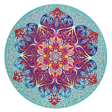 Round Wall Hanging Tapestry Wall Hanging Bedspread Beach Towel Mat Blanket Table-Multicolor