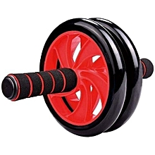 Rubber Roller Double Wheel -(Black and Red)