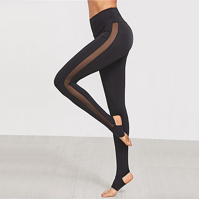 a74dfcb693b Womens Mesh Splice Yoga Skinny Workout Gym Leggings Fitness