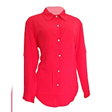A Red long sleeved/pilot official top.