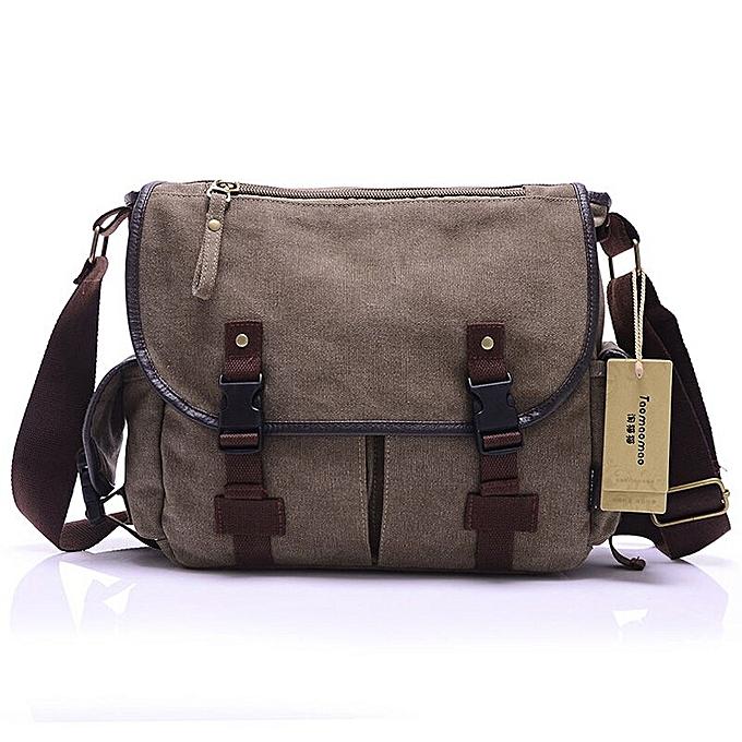 441182cd79b3 Men's Casual Canvas Bag Men Messenger Bag Man Cover Crossbody School bags  For Men Shoulder Bag Bolsa Masculina High Quality(Brown)