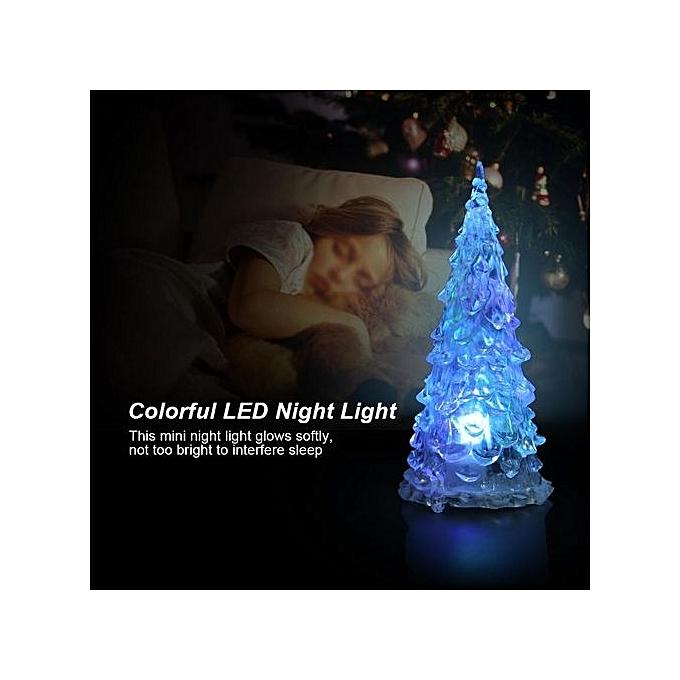 Mini Christmas Tree Shape Led Night Light Table Lamp Home Decor Colorful