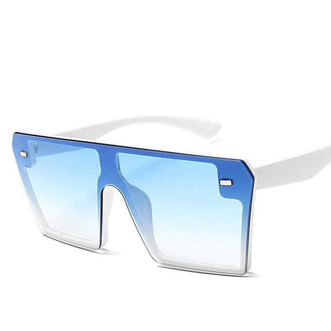 f8b9a43e8 2019 Oversize Square Sunglasses Women Fashion Flat Top Gradient Sun glasses  Men Rimless Large Frame Oculos