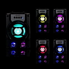 Outdoor Bluetooth Wireless Portable Speaker Super Bass with USB/TF/AUX/FM Radio-Black