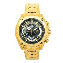 Gold EF550 Metallic Strap Watch