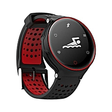X2 Smartwatch Waterproof Activity Fitness Tracker Smart Wristband Long Standby Smart Band - Black Red