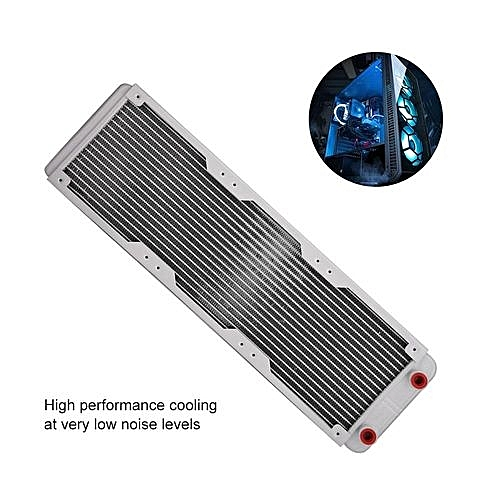 Aluminum Radiator Aluminum Radiator Heat Sink Computer Water Cooling Liquid  Heat Exchanger White (360mm)