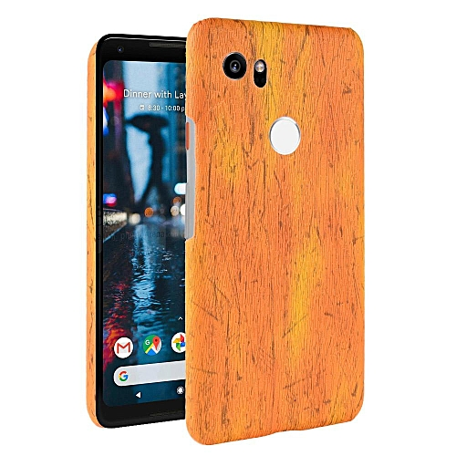 new style 1ef39 0db36 Pixel 2 XL Case, [wood Texture] PU Leather + Hard PC Protective Case Cover  for Google Pixel 2 XL