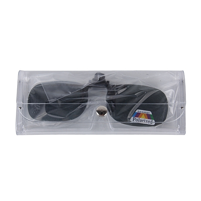 43f676712a4 ... Polarized Clip-on Flip Up Plastic Clip Sunglasses Lenses Glasses  Unbreakable Driving Fishing Outdoor Sport ...
