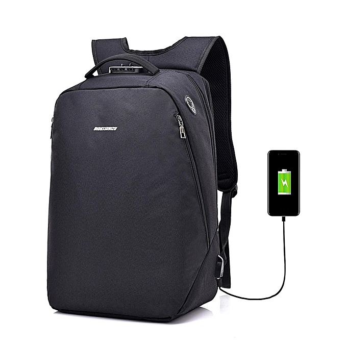 42fde64ac4 Laptop Backpack Travel Anti-theft Bag Rucksack with USB Charging Port Coded  Lock