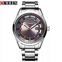 Men's Fashion 30M Water Resistant Auto date Stainless Steel Wrist Watch