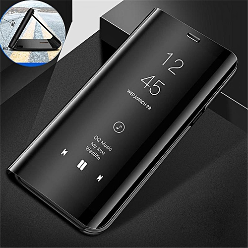 low priced b85df 0f950 Clear View Mirror Case For Samsung Galaxy Note 5 / Note5 Leather Flip Stand  Case Mobile Accessories Phone Cases Cover (Black)