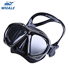 Professional Scuba Myopia Hyperopia Swimming Diving Mask Goggle - Black