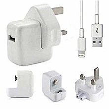 IPhone 7/ 7Plus Charger Adapter Complete - White
