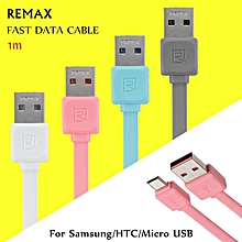 Remax micro USB Cable Sync Data Charger For Android Pink